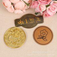 不锈钢丝印铭牌定做 个性圆形LOGO标牌 金属打造创意挂件