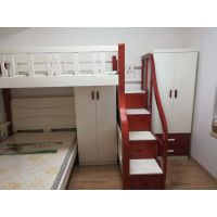 实木子母床定做,原木子母床定做,L型子母床定做,T型子母床定做带衣柜