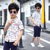 2018新款男童夏装套装儿童中大童夏季男孩衣服10大童15童装13岁12