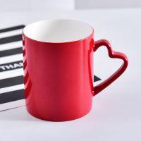 唯奥陶瓷批发定制红釉骨瓷杯子 陶瓷马克杯 加logo画面