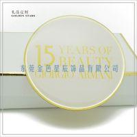 品牌15周年胸针 周年纪念礼品 黄铜胸针定制