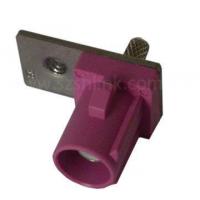 RF射频同轴汽车连接器FAKRA SMB-C-J1.5-4(H型粉红色短公头单档板接RG178线