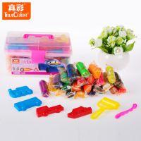 真彩文具批发 24色幼儿环保橡皮泥早教彩泥套装工具箱玩具2628