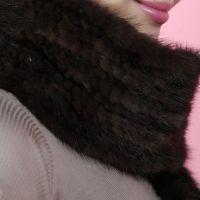 新款编织水貂皮草围巾围脖女士冬天长款保暖流苏围巾披肩