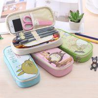 0064韩国创意文具 可爱卡通龙猫大容量笔袋 简约大容量铅笔盒
