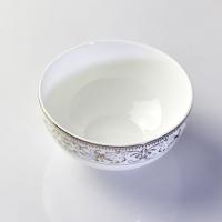 唐山瓷亿美 批发陶瓷餐具 骨瓷碗盘碟套装4.5寸家用米饭碗太阳岛面碗可定制