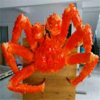 创意海洋生物玻璃钢雕塑号线螃蟹饭店门口迎宾摆件树脂大闸蟹旺记招牌定制