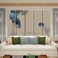 现代新中式卧室床头软包背景墙客厅沙发电视背景宾馆硬包皮革定制