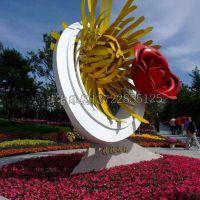 姐妹齐放花朵不锈钢雕塑 厂家直销 植物园景观摆件