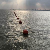 橄榄状抬缆警示浮河道隔离浮筒