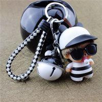 jSH奶嘴娃娃可爱钥铃铛包包挂件汽车匙扣创意蒙奇奇钥匙链男女款