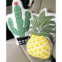 可爱菠萝抱枕欧美夏日主题派对装饰仙人掌靠垫沙发靠垫汽车抱枕