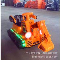新款儿童电动挖土机加大号工程车可坐可骑坦克挖掘机宝宝玩具挖机