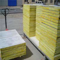 桦甸市建筑钢结构岩棉复合板14个厚价格屋面半硬质岩棉复合板一吨