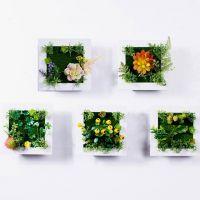 美式乡村店铺创意家居墙上装饰品仿真植物客厅墙面挂件壁饰花盆篮