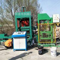小型空心水泥砖机全自动液压免烧砖机八孔盘六角护坡植草制砖机