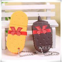 韩版创意迷你饼干造型便携圆珠笔学生文具礼品奖品钥匙扣装饰笔