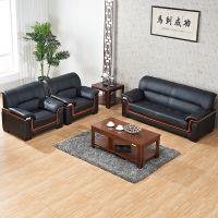 厂家直销 同城配送 简约耐磨西皮办公沙发一套1+1+3