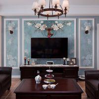 美式创意婚房床头电视背景墙纸 8d客厅卧室大型壁纸壁画 艺术麋鹿