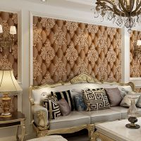 欧式仿软包皮革面鹿皮绒无纺布壁纸3D浮雕电视背景墙卧室客厅墙纸