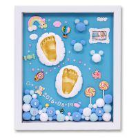 婴儿手模脚模宝宝手足印泥立体克隆粉儿童手脚手印泥纪念品套装