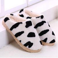 奶牛红唇冬季室内居家木地板防滑家居包头冬季棉鞋棉拖鞋