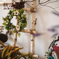 可定做装饰白桦树1.5-2.5米大白桦木隔断树干树枝艺术装饰