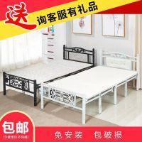 加固单人床折叠床铁床简易双人床木板床午休床家用1.2米1.5米成人