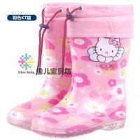 包邮防滑儿童雨鞋水鞋保暖男童宝宝胶鞋小孩雨靴女童时尚加绒秋冬