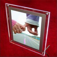 亚克力闭合式双层强磁相框 有机玻璃LED双层象牙芒造型相框相架