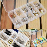 透明塑料首饰盒 小格子收纳盒药盒储物盒子 饰品盒装小物一件代发