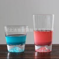 洁雅2018创意款日式富士山杯透明玻璃烈酒杯雪山杯餐厅酒具定制