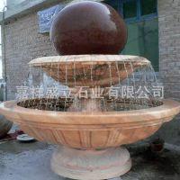厂家定做风水转运球喷泉 晚霞红黄锈石双层流水喷泉