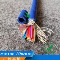 14芯蓝色YSPT镀锡铜线导体耐压防水水利安装地埋水工屏蔽电缆