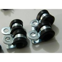 西安生产福莱通R型铁镀锌管夹Cable Clamps,连胶条卡箍,线束固定夹厂家