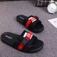 韩版室内男士冬季一字休闲防滑棉布居家舒适软底情侣室外平底拖鞋