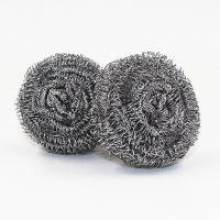 钢丝球 6个装螺旋式不锈钢清洁球 不伤手高效袋装钢丝球批发