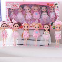 厂家直销 韩版18cm烘培甜品搪胶娃迷糊娃娃 蛋糕装饰摆件