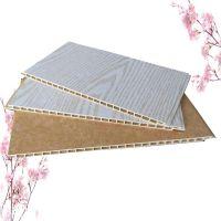 竹木纤维集成墙板300宽V缝 新型吊顶材料快装墙面 木塑材质护墙板