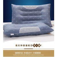 荞麦苦枕套枕头套枕心装加高枕头加厚珍珠棉睡眠枕一对皮枕芯