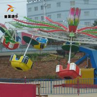 主题公园大型游乐设备双人飞天童星游乐深受欢迎
