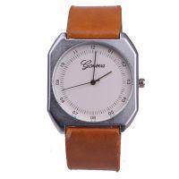 批发菱形手表中性大表盘日内瓦手表男士皮带手表女表四方形石英表