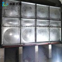 科能厂家保定304不锈钢螺丝连接水箱 拼装消防高位储水箱