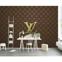 定制服装店墙纸LV品牌办公室背景墙LOGO壁画无纺布壁纸