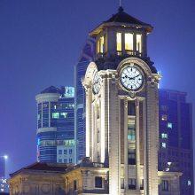 室外建筑大钟夜间照明挂钟高级会所建筑时钟支持定制塔钟