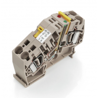 魏德米勒ZTR 6-2 E / 230V UC电流测试端子, 弹片联接, 6 mm?, 230 V
