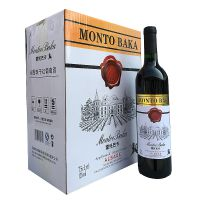 MONTO BAKA蒙托巴卡红酒赤霞珠干红葡萄酒12度750ML国产红酒批发