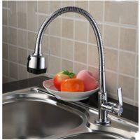 厨房龙头立式单冷水龙头万向出水管不锈钢水槽通用标准4分口