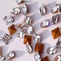 源头厂家4*4白色仿捷克尖底方钻 玻璃异形水晶钻 DIY钟表手链戒指耳环饰品配件
