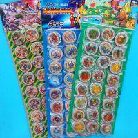 JSH儿童奖励玩具 植物大战僵尸2小圆卡片加厚纸卡片